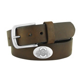 Ohio State Buckeyes Concho Brown Leather Belt 46