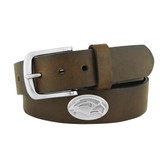 Southern Miss Golden Eagles Concho Brown Leather Belt 46