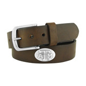 Texas A&M Aggies Concho Brown Leather Belt 46