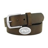 Arkansas Razorbacks Concho Brown Leather Belt 46