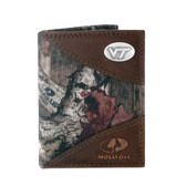 Virginia Tech Hokies Trifold Nylon Mossy Oak Wallet