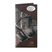 Virginia Tech Hokies Secretary Nylon Mossy Oak Wallet