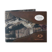 West Virginia Mountaineers Passcase Nylon Mossy Oak Wallet