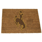 Wyoming Cowboys Colored Logo Door Mat