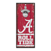 Alabama Crimson Tide Sign Wood 5x11 Bottle Opener