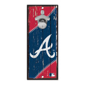 Atlanta Braves Sign Wood 5x11 Bottle Opener