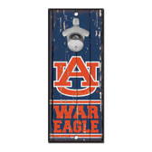 Auburn Tigers Sign Wood 5x11 Bottle Opener
