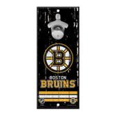 Boston Bruins Sign Wood 5x11 Bottle Opener