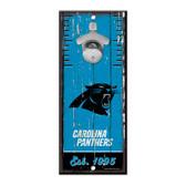 Carolina Panthers Sign Wood 5x11 Bottle Opener