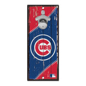 Chicago Cubs Sign Wood 5x11 Bottle Opener