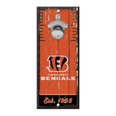 Cincinnati Bengals Sign Wood 5x11 Bottle Opener