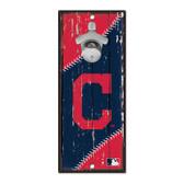 Cleveland Indians Sign Wood 5x11 Bottle Opener