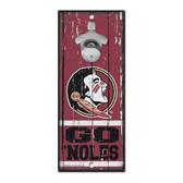 Florida State Seminoles Sign Wood 5x11 Bottle Opener