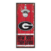 Georgia Bulldogs Sign Wood 5x11 Bottle Opener