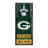 Green Bay Packers Sign Wood 5x11 Bottle Opener