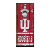 Indiana Hoosiers Sign Wood 5x11 Bottle Opener