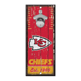 Kansas City Chiefs Sign Wood 5x11 Bottle Opener