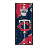 Minnesota Twins Sign Wood 5x11 Bottle Opener
