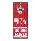 Nebraska Cornhuskers Sign Wood 5x11 Bottle Opener