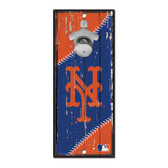 New York Mets Sign Wood 5x11 Bottle Opener