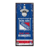 New York Rangers Sign Wood 5x11 Bottle Opener