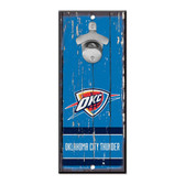 Oklahoma City Thunder Sign Wood 5x11 Bottle Opener