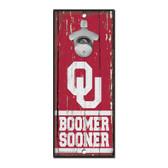 Oklahoma Sooners Sign Wood 5x11 Bottle Opener