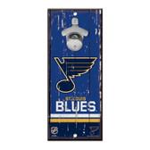 St. Louis Blues Sign Wood 5x11 Bottle Opener