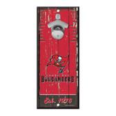 Tampa Bay Buccaneers Sign Wood 5x11 Bottle Opener