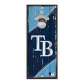 Tampa Bay Rays Sign Wood 5x11 Bottle Opener
