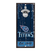 Tennessee Titans Sign Wood 5x11 Bottle Opener