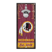 Washington Redskins Sign Wood 5x11 Bottle Opener