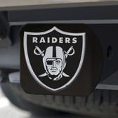 Oakland Raiders Hitch Cover Chrome Emblem on Black