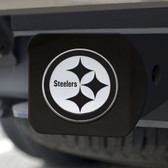 Pittsburgh Steelers Hitch Cover Chrome Emblem on Black