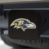 Baltimore Ravens Hitch Cover Color Emblem on Black
