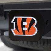 Cincinnati Bengals Hitch Cover Color Emblem on Black