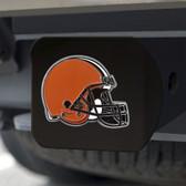 Cleveland Browns Hitch Cover Color Emblem on Black