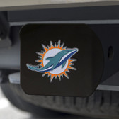 Miami Dolphins Hitch Cover Color Emblem on Black