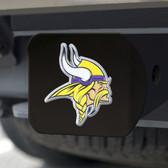 Minnesota Vikings Hitch Cover Color Emblem on Black