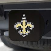 New Orleans Saints Hitch Cover Color Emblem on Black