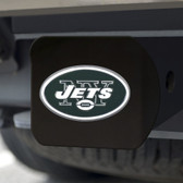 New York Jets Hitch Cover Color Emblem on Black