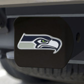 Seattle Seahawks Hitch Cover Color Emblem on Black