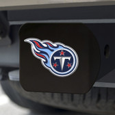 Tennessee Titans Hitch Cover Color Emblem on Black