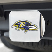 Baltimore Ravens Hitch Cover Color Emblem on Chrome