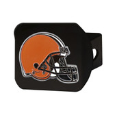 Cleveland Browns Hitch Cover Color Emblem on Chrome