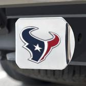 Houston Texans Hitch Cover Color Emblem on Chrome