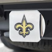 New Orleans Saints Hitch Cover Color Emblem on Chrome