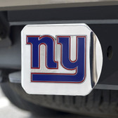 New York Giants Hitch Cover Color Emblem on Chrome