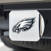 Philadelphia Eagles Hitch Cover Color Emblem on Chrome