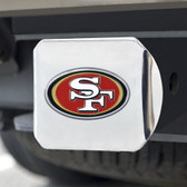 San Francisco 49ers Hitch Cover Color Emblem on Chrome